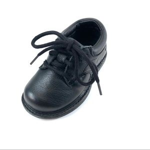 Timberland Infant Size 5.5 Black Leather Oxfords